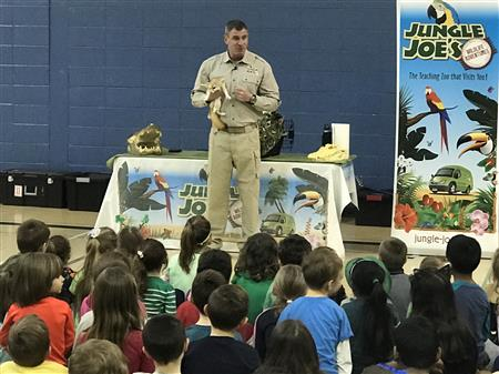 JUNGLE JOE VISITS RICHBORO ELEMENTARY FOR EDUCATIONAL ASSEMBLY