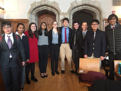 COUNCIL ROCK NORTH SPEECH & DEBATE TEAM COMPETES AT PRINCETON CLASSIC