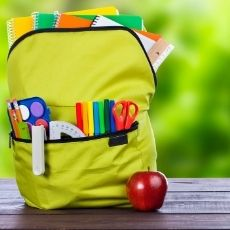 BRIGHT YELLOW CHILDS SCHOOL BACKPACK