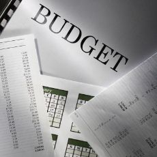 image of papers with the word budget