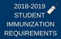2018-2019 IMMUNIZATION REQUIREMENTS