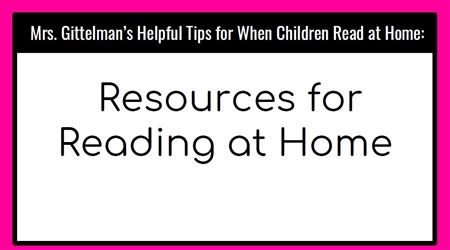 HELPING CHILDREN WITH READING AT HOME