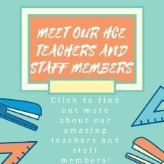 MEET OUR HCE TEACHERS AND STAFF!