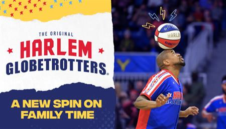 Harlem Globtrotters - Player with Basketball on his head!