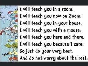 Dr. Seuss image of distance learning