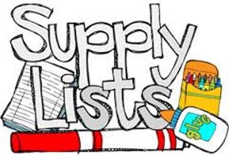 Grade Level Supply Lists for 2019-20