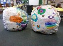 Our stuffed 3d dots.