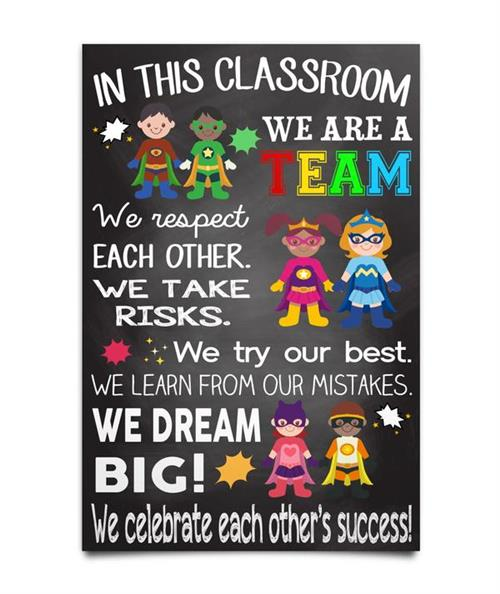 In This Classroom We are a Team, Respect, Try, Make Mistakes, Dream