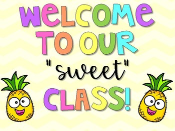 Welcome to our sweet class!