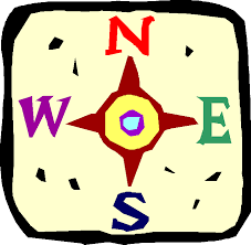A picture of a compass rose