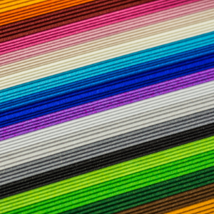a photo of colored paper stacked up
