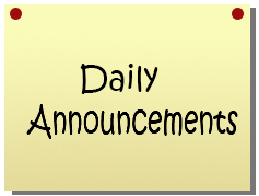 COUNCIL ROCK SOUTH DAILY STUDENT ANNOUNCEMENTS