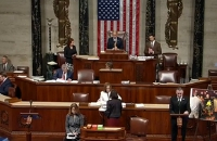 Image of House of Representatives with speaker Brian Fitzpatrick