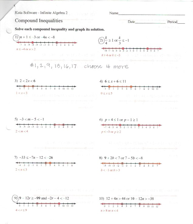 7th grade math worksheets kuta