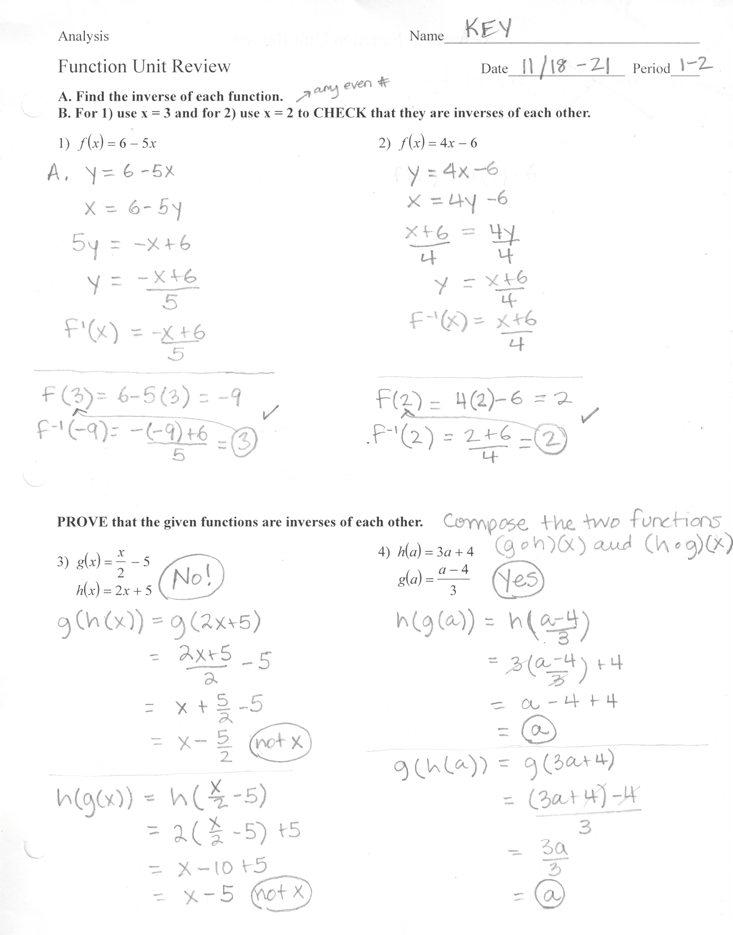 Alt Marianne Math AN Answer Keys 201617 – Trigonometry Review Worksheet